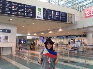 空港にて沙耶さん